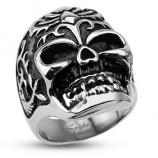 Кольцо из стали с черепом R-H4350