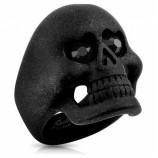 Кольцо из стали с черепом R-S1023