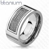 Кольцо из титана с тросиками R-TI-4402