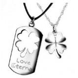 Парные кулоны для влюбленных из серебра арт. DAN_026