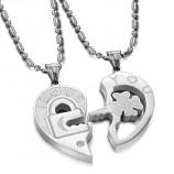 """Парные кулоны для двоих """"Ключ от сердца"""" арт. DAN_004"""