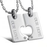 """Парные кулоны для двоих """"Любовь и надежда"""" арт. DAN_005"""