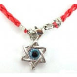 Звезда Давида, браслет на красной нити