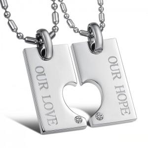 """Двойной кулон для влюбленных """"Любовь и надежда"""" арт. DAN_005"""