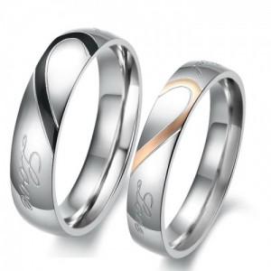 Парные кольца для влюбленных арт. DAO_007