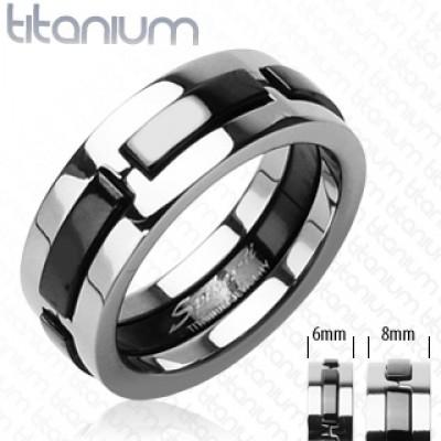 Кольцо из титана с выемками R-TI-3437