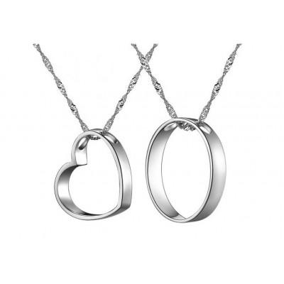 Кулоны для влюбленных из серебра арт. DAN_022