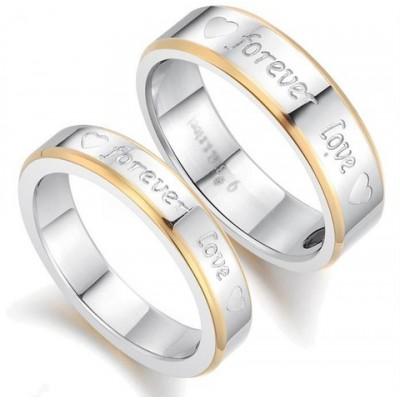 Парные кольца для влюбленных dao_006 из ювелирной стали 316L