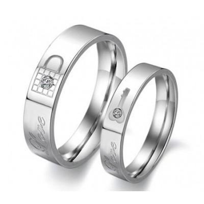 Парные кольца для влюбленных dao_008 из ювелирной стали 316L