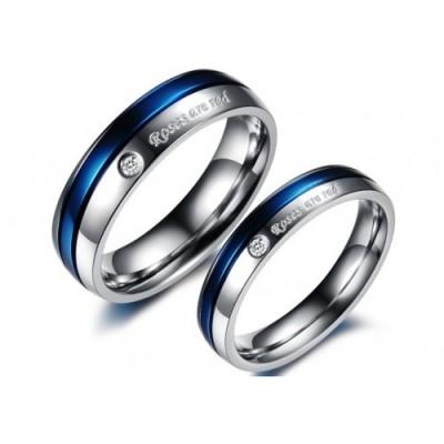 Парные кольца для влюбленных dao_013 из ювелирной стали 316L