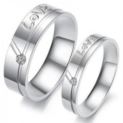 Парные кольца для влюбленных dao_009 из ювелирной стали 316L