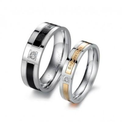 Парные кольца для влюбленных dao_015 из ювелирной стали 316L