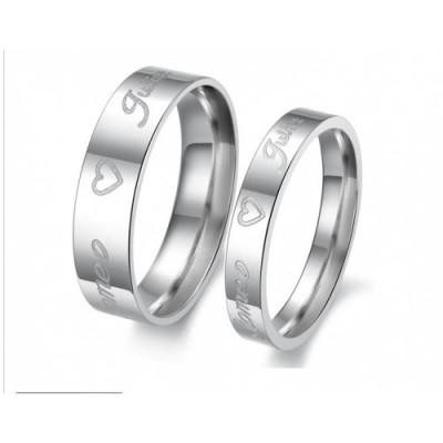 Парные кольца для влюбленных dao_018 (сталь 316L)